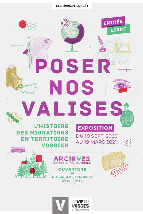EXPOSITION POSER NOS VALISES