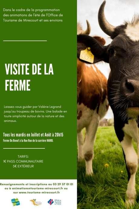 VISITE DE LA FERME DE VALÉRIE LEGRAND