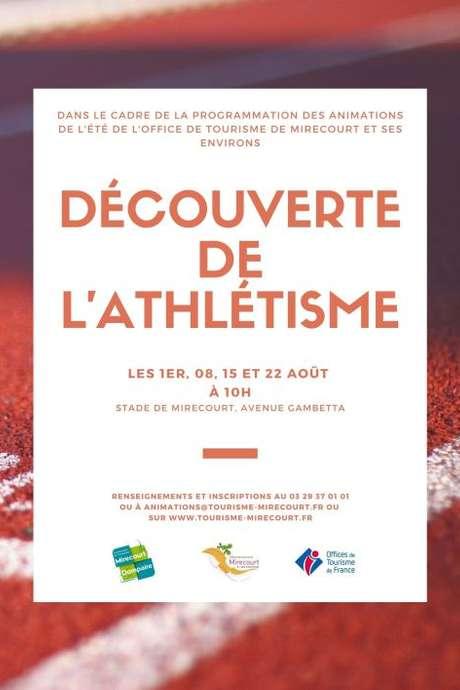 DÉCOUVERTE DE L'ATHLÉTISME