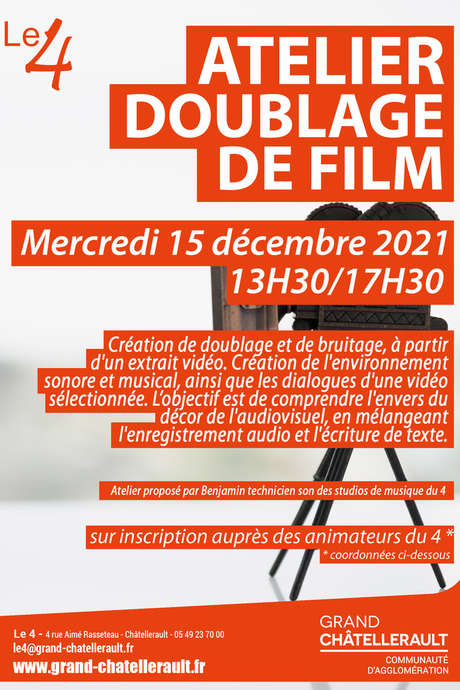 "Atelier ""Doublage de film"""