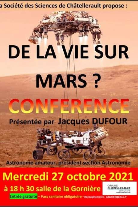 De la vie sur Mars ? conférence de Jacques Dufour