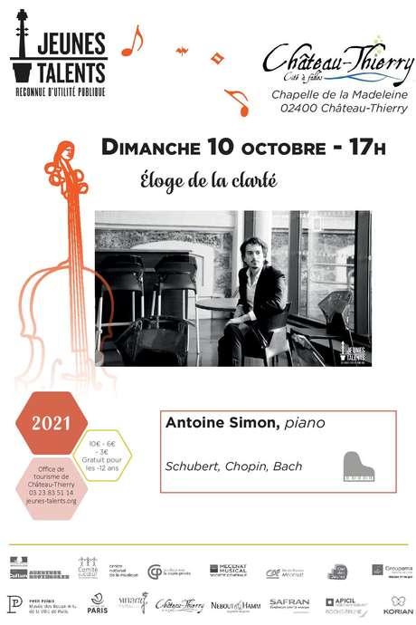 """CONCERT : """"Éloge de la clarté"""" d'Antoine SIMON"""