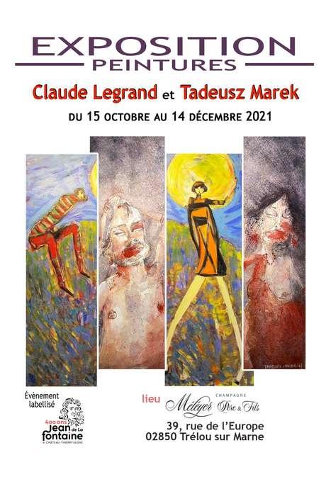 Exposition de peintures : Claude Legrand & Tadeusz Marek