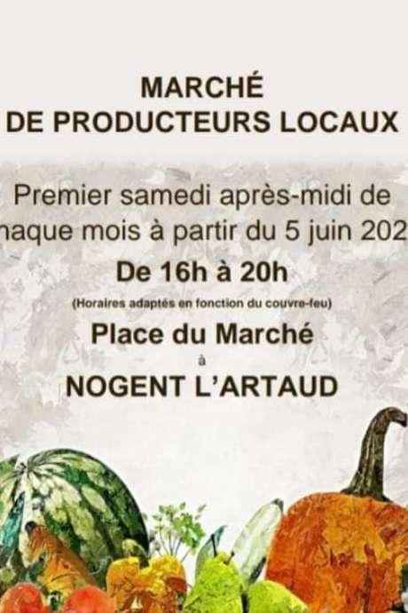 Marché des producteurs locaux à Nogent l'Artaud