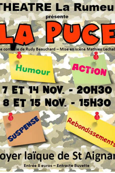 "Théâtre : ""La Puce"" de Rudy Beauchart"