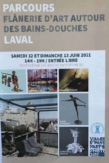 """PARCOURS """"FLÂNERIE D'ART AUTOUR DES BAINS-DOUCHES"""""""