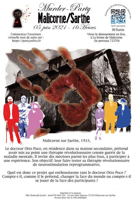 MURDER-PARTY À MALICORNE-SUR-SARTHE