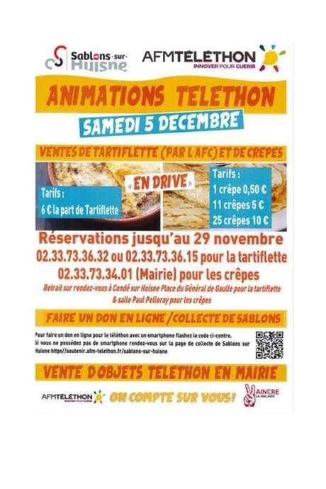 Téléthon - Animations maintenues Sablons sur Huisne
