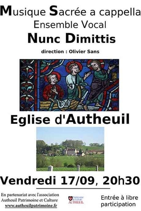 Concert de l'ensemble vocal Nunc Dimittis