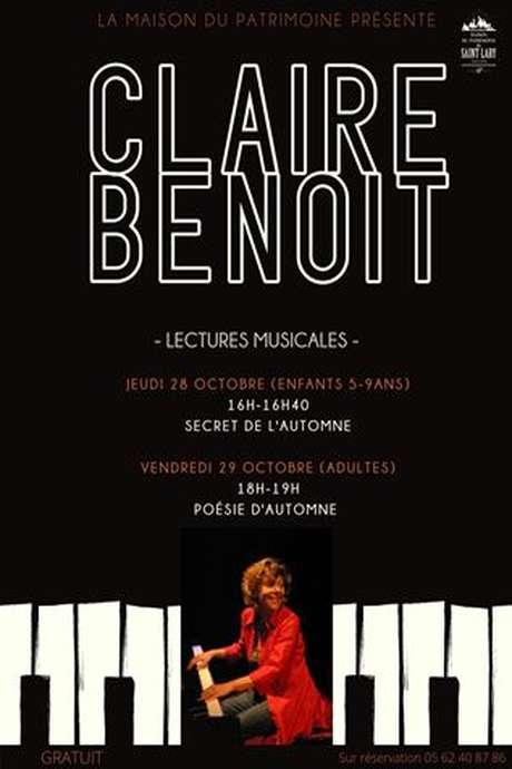 Lecture théâtralisée et musicale par Claire Benoit