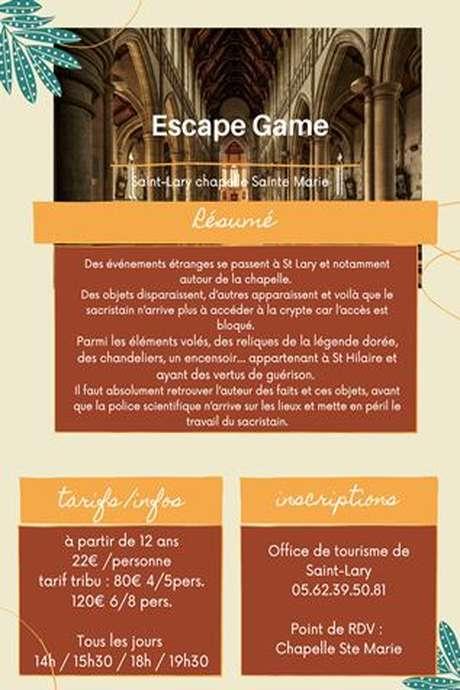 Escape Game Chapelle Sainte Marie