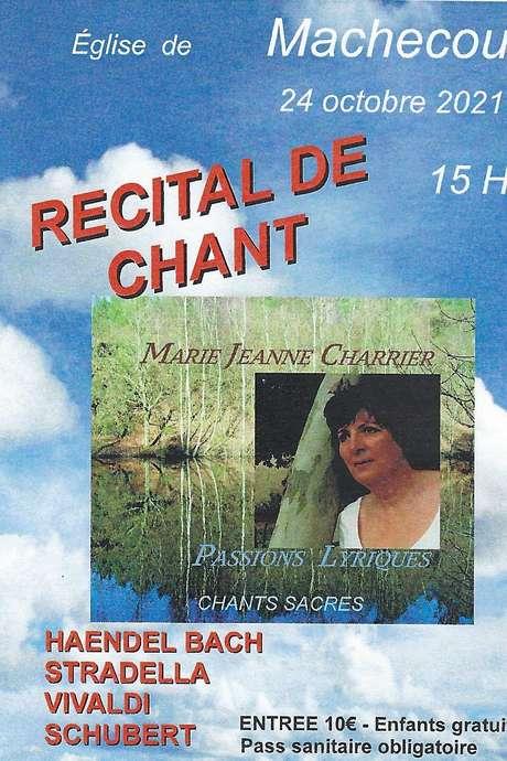 RÉCITAL DE CHANTS DE MARIE-JEANNE CHARRIER