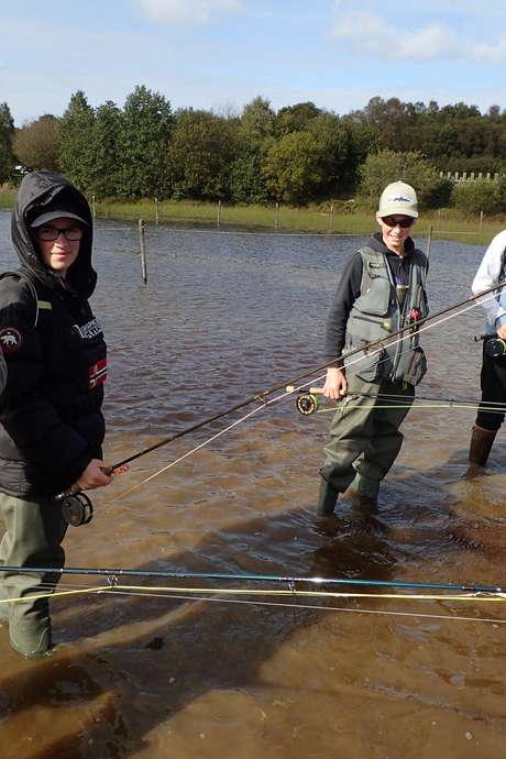 Stage d'initiation de pêche à la mouche en rivière