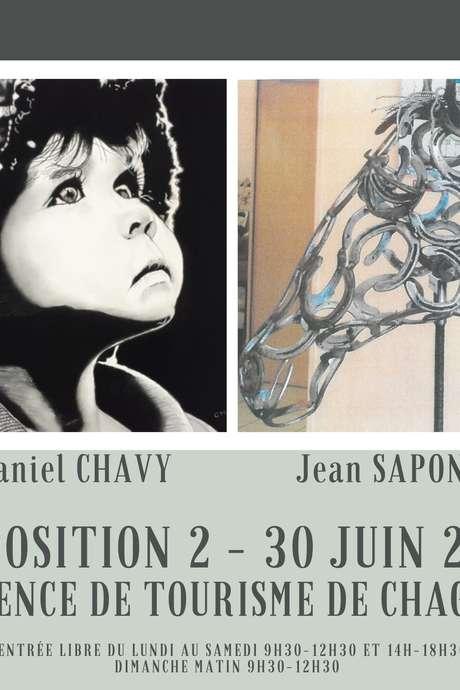 Exposition de Peintures de Daniel CHAVY et de Sculptures de Jean SAPONE