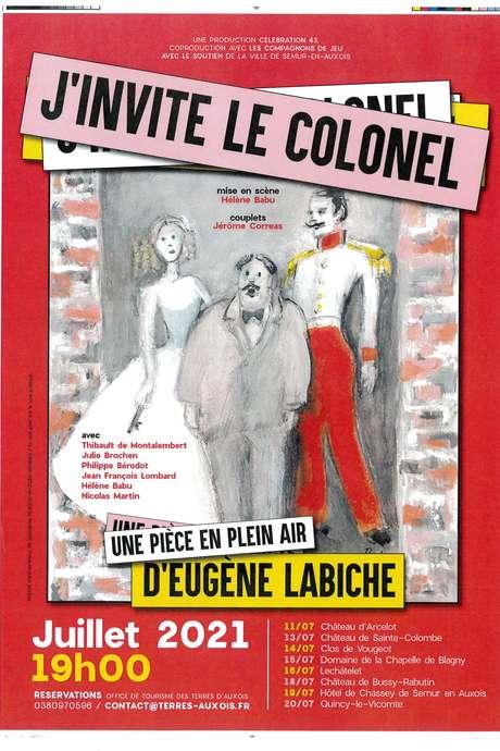 """Théâtre """"J'invite le colonel"""" au domaine de la chapelle de Blagny"""
