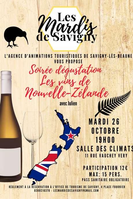 Les Mardis de Savigny - Dégustation de vins de Nouvelle-Zélande