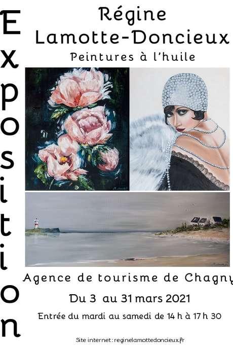 Exposition de Peintures à l'huile de Régine LAMOTTE DONCIEUX