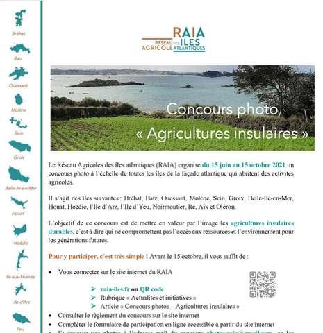 Concours photo organisé par le Réseau Agricoles des îles atlantiques (RAIA)