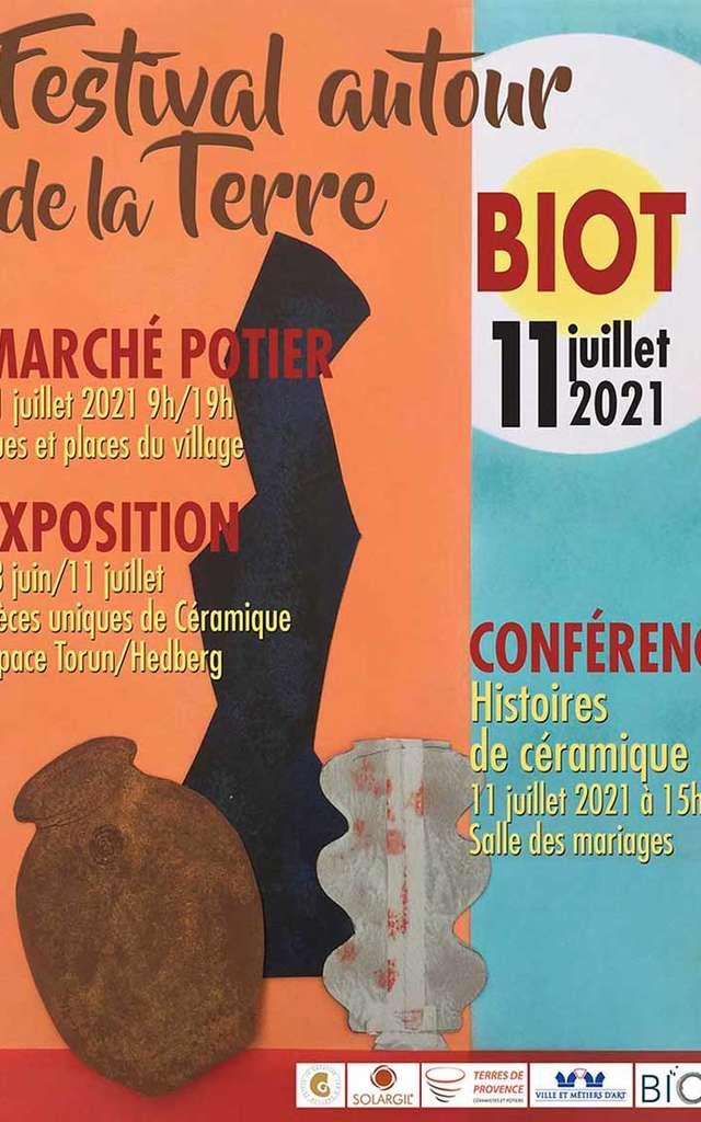 Marché potier de Biot