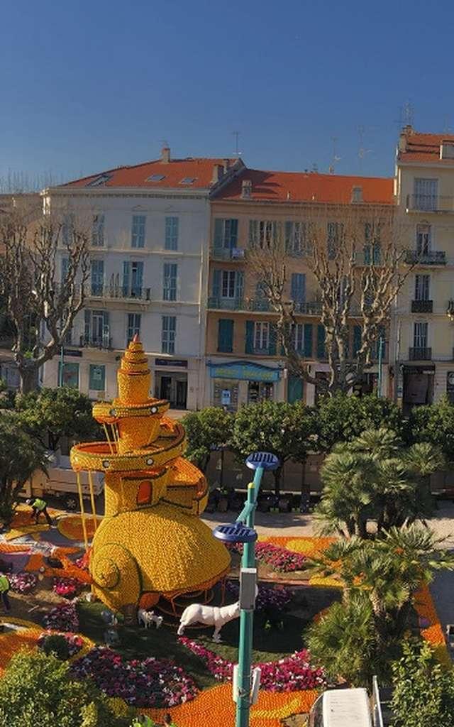 Lemon Festival  Exhibition of citrus patterns