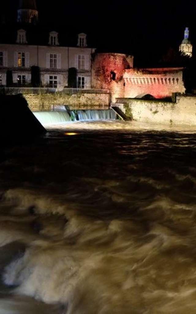 Visite nocturne de la ville de Vendôme, ville d'eau et de lumière