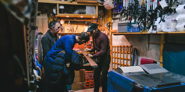 Ski repairs workshop
