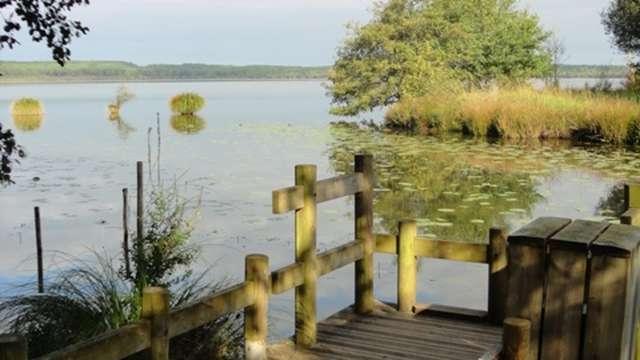 Ponton de pêche du lac de Léon