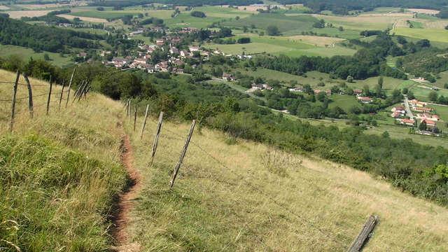 Sentier du Mont Myon depuis Chevignat