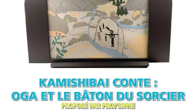 Kamishibai conte « Oga et le bâton du sorcier »