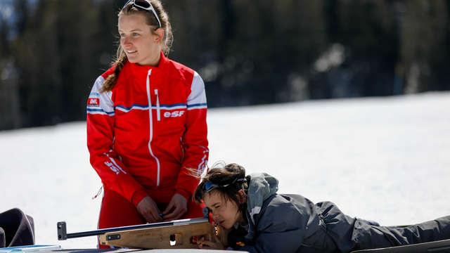 Relais biathlon en famille