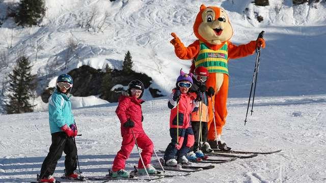 Zones de ski débutant au Collet
