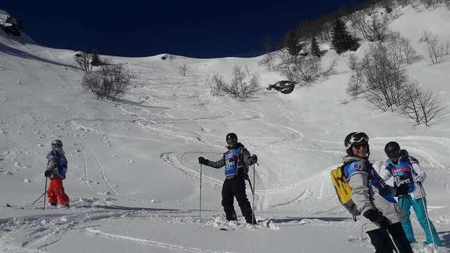 Cours de ski avec l'ESF du Collet