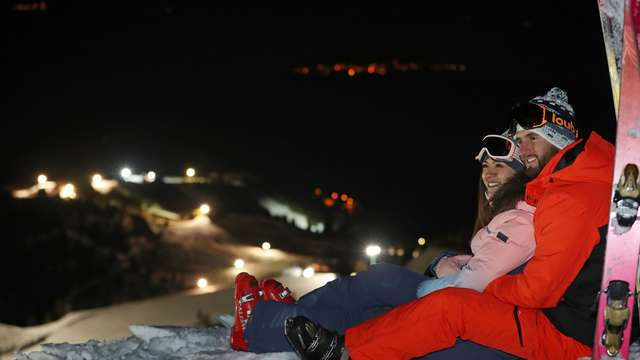 Night Skiing Area in le Collet