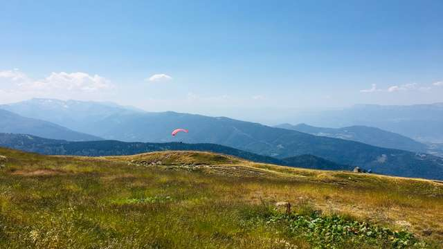 Paragliding take-off areas