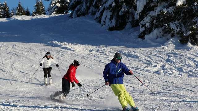 Le weekend Hors vacances scolaires au Collet commence par le ski de nuit