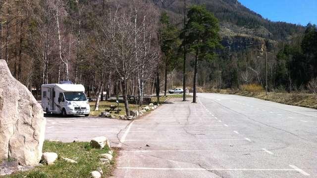 Aire de stationnement camping-cars Colmars