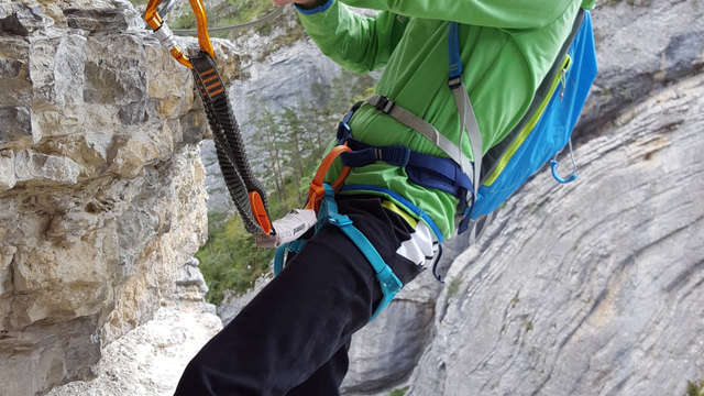 Via ferrata d'Arthouze - Actions