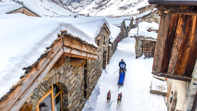 Arrivée d'étape de la Grande Odyssée Savoie Mont Blanc