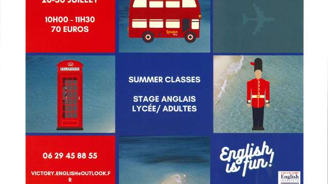 Summer classes - stage anglais lycée, adultes