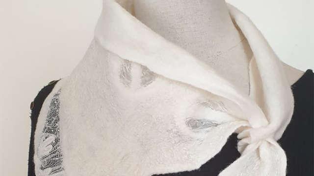Atelier découverte : Foulard fin en feutre Nuno