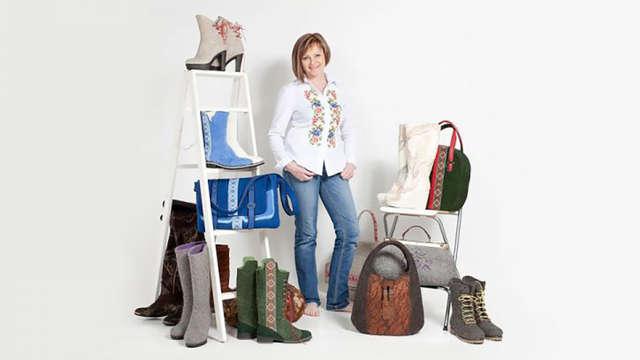 Stage de feutre de laine : chaussures et sac assortis