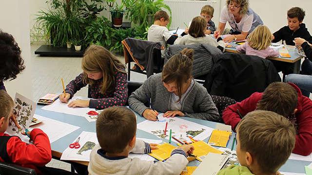 Atelier jeune public à la Cité de la tapisserie :