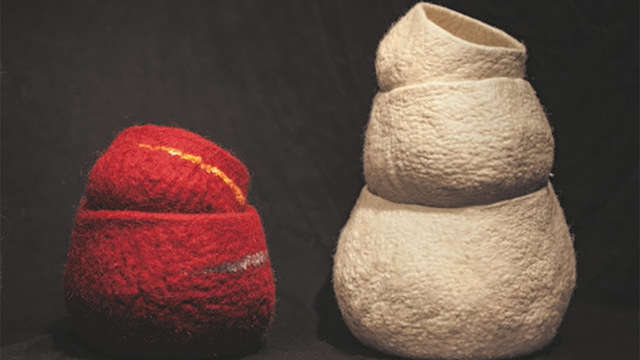 Stage de feutre de laine : Feutre en volume
