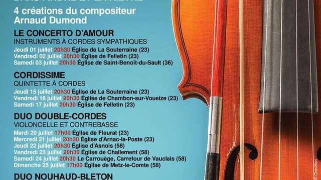 10e Festival Cordes & Cies, Duo Nouhaud-Bleton,  St-Priest-la-Feuille