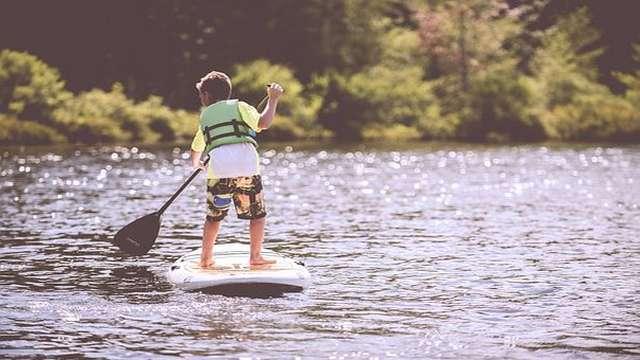 Balade en paddle et coucher de soleil