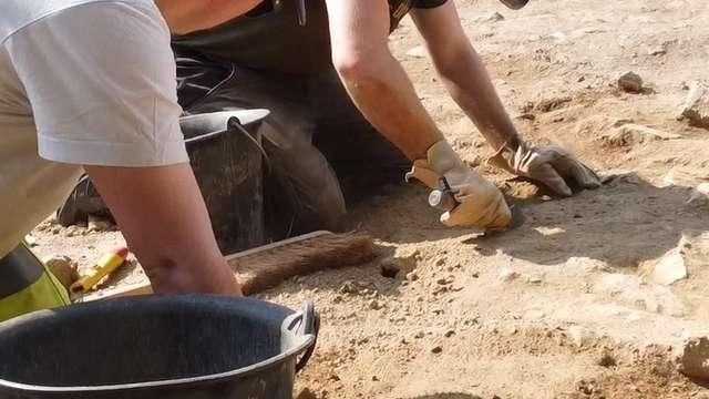 Visite du chantier des fouilles de Bridiers