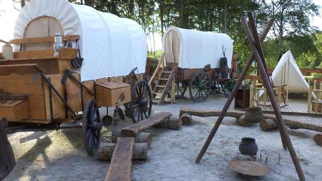 Campement Western du camping d'Aleth