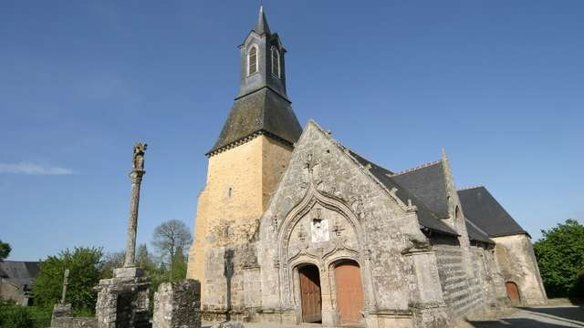 Eglise Saint Golven et jardin médiéval