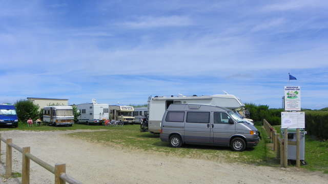 Aire de stationnement à proximité du Camping de la Plage de Quiberville