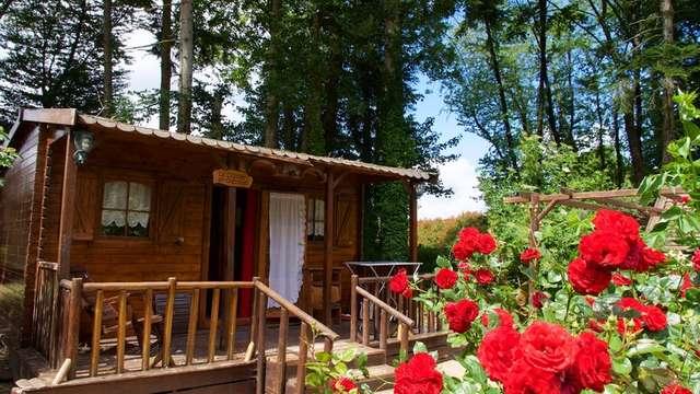 Cabanes de Trappeurs du camping d'Aleth